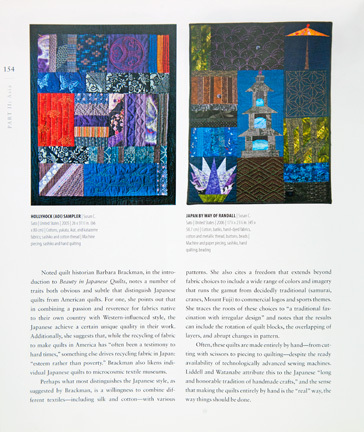 Hollyhock (AOI) Sampler and Japan by Way of Randall in the Japan section of the book Quilts Around the World by Spike Gillespie.