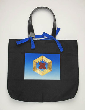 Silk Medallion Handbag.