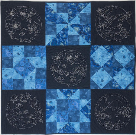 Four Seasons Quilt Kit- Blue