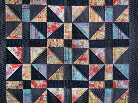 Light and Dark Quilt, hand pieced and quilted