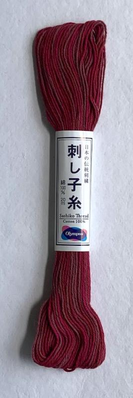 Olympus Variegated short dark red 100% cotton 20 meters  $2.99 #97 : Variegated Threads : Easy Piecing: Sashiko Supplies: Shweshwe Fabric: Japanese Fabrics