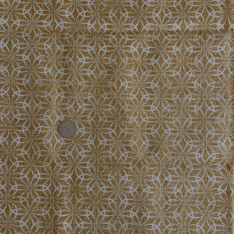 Traditional Gold and cream texture- 100% cotton. Great blender.  : JAPANESE FABRIC : Easy Piecing: Sashiko Supplies: Shweshwe Fabric: Japanese Fabrics