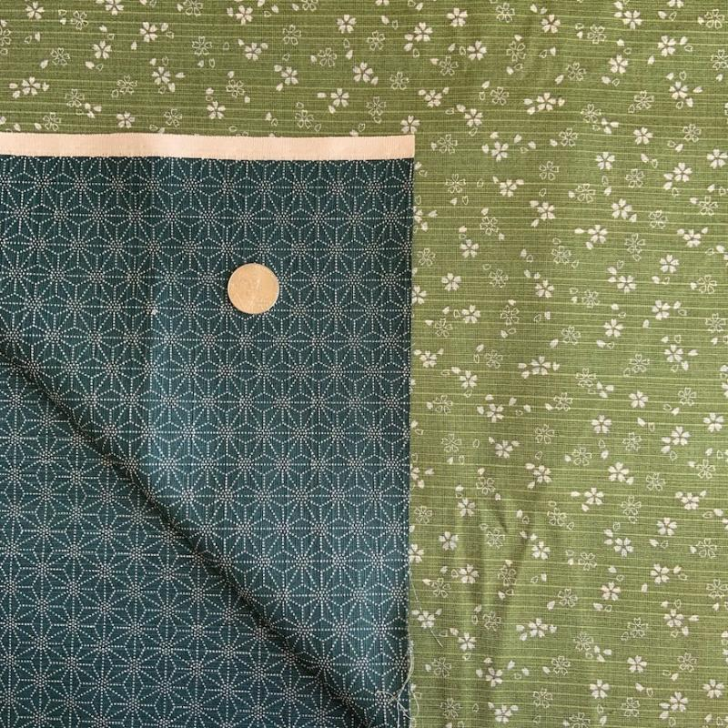 Sevenberry Double Sided Green/Blue- Two for One - double sided fabric. You can use both sides. Traditional patterns Textured. 100% cotton  : JAPANESE FABRIC : Easy Piecing: Sashiko Supplies: Shweshwe Fabric: Japanese Fabrics