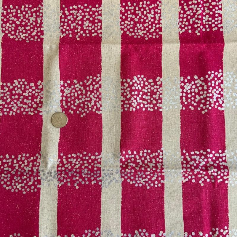 Kokka Echino Pink fabric with metallic silver dots. Cotton and linen : JAPANESE FABRIC : Easy Piecing: Sashiko Supplies: Shweshwe Fabric: Japanese Fabrics