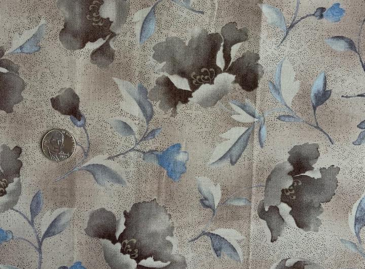Daiwabo print-brown & blue printed in Japan- 100% cotton-Sale $11.20 was $14 yd : Fabric : Easy Piecing: Sashiko Supplies: Shweshwe Fabric: Japanese Fabrics