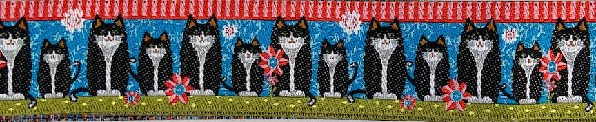 Cats 7/8 inches wide- Sale $4.20 -was $5.25- 1 yard minimum, not continuous  : Ribbon : Easy Piecing: Sashiko Supplies: Shweshwe Fabric: Japanese Fabrics