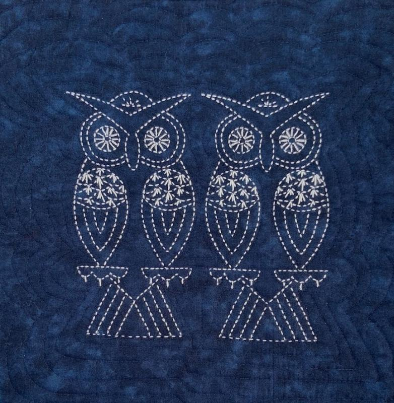 Two Owls Sashiko panel pre-printed on dark blue fabric. Includes instructions. 14.5 x14.5. Thread not included. Olympus white #1. We have the threads, you need one package. Sale $19.20 Was $24 : Sale Foliage & Bird Sashiko : Easy Piecing: Sashiko Supplies: Shweshwe Fabric: Japanese Fabrics