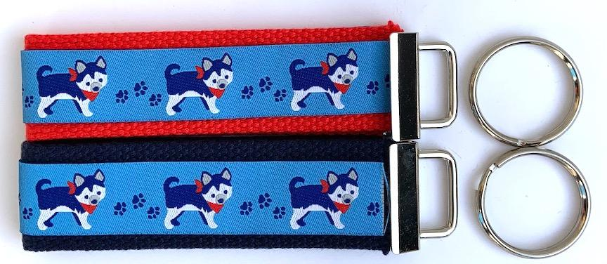 Key Fob Kit Set-Husky Dogs- Sale $8.00- was $10 : Key Fobs : Easy Piecing: Sashiko Supplies: Shweshwe Fabric: Japanese Fabrics