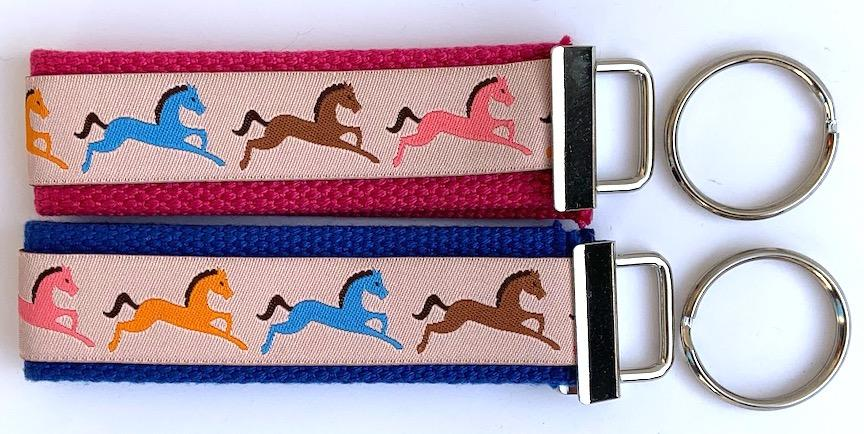 Key Fob Kit Set-Ponies- Sale $8.00- was $10 : Key Fobs : Easy Piecing: Sashiko Supplies: Shweshwe Fabric: Japanese Fabrics