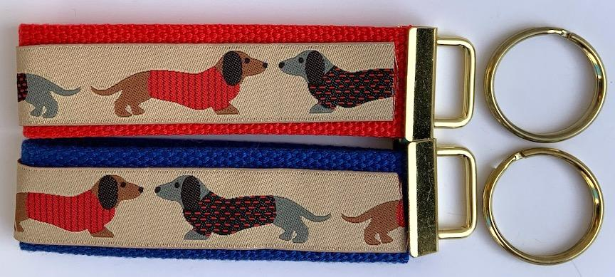 Key Fob Kit Set-Dachshund Dog- Sale $8.00- was $10 : Key Fobs : Easy Piecing: Sashiko Supplies: Shweshwe Fabric: Japanese Fabrics
