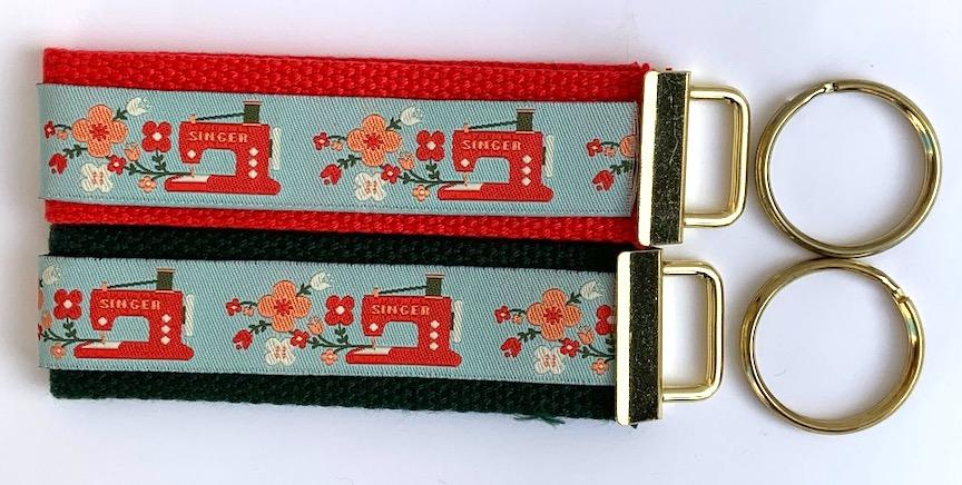 Key Fob Kit Set- Singer Sewing Machines- Sale $8.00- was $10 : Key Fobs : Easy Piecing: Sashiko Supplies: Shweshwe Fabric: Japanese Fabrics