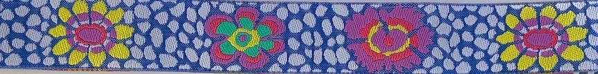 Kaffe Fassett Guinea Flower- 7/8 inches wide- Sale $3.40 -was $4.25- 1 yard minimum, 