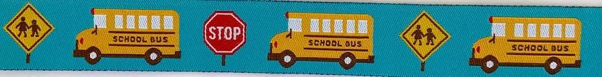 School Bus- 7/8 inches wide- Sale $3.16 -was $3.95- 1 yard minimum  : Ribbon : Easy Piecing: Sashiko Supplies: Shweshwe Fabric: Japanese Fabrics