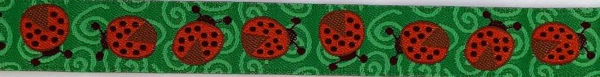 Ladybugs- 5/8 inches wide- Sale $3.00 -was $3.75- 1 yard minimum  : Ribbon : Easy Piecing: Sashiko Supplies: Shweshwe Fabric: Japanese Fabrics